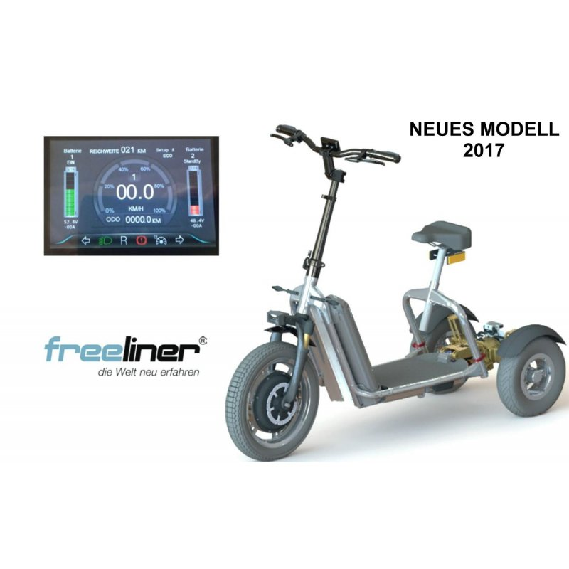 freeliner 3 r driger e scooter neues modell 2019 future. Black Bedroom Furniture Sets. Home Design Ideas