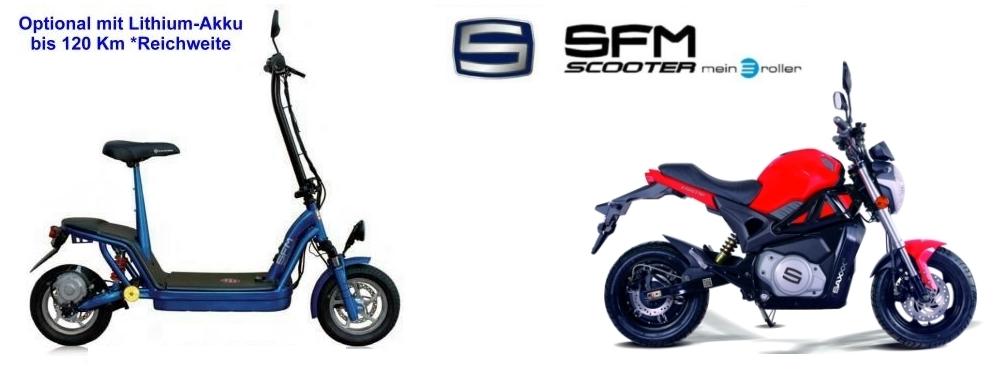SFM Bikes - E-Scooter & stylische Mopeds