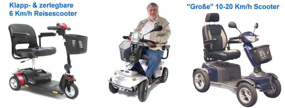Seniorenmodelle, Reisescooter, Geh-Hilfen